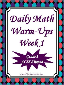 Daily Math Warm-Ups {Free}