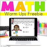 Daily Math Warm Ups Sampler FREEBIE