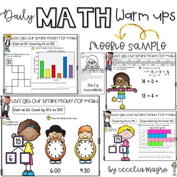 Daily Math Warm Ups Sampler FREEBIE