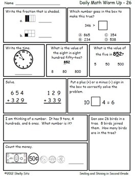 Math for Second Grade (Second Trimester)