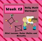 Daily Math Warm Ups Week 12 Euler Paths
