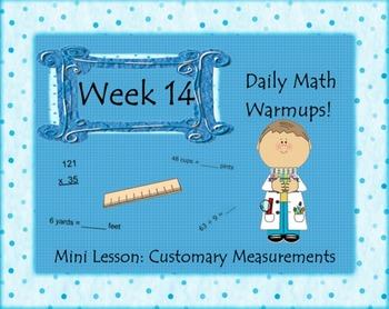 Daily Math Warm Ups Week 14 Customary Measurements