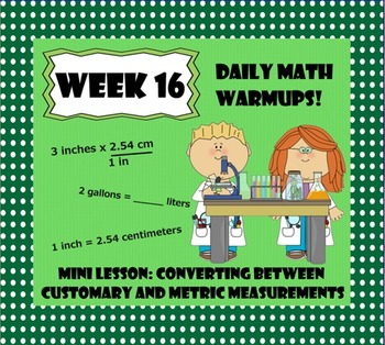 Daily Math Warm Ups Week 16 Converting Measurements