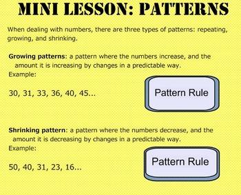 Daily Math Warm Ups Week 17 Patterns