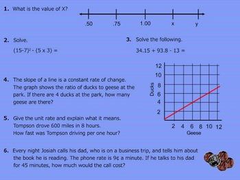 Daily Math Warm Ups Week 19 Rates