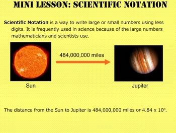 Daily Math Warm Ups Week 20 Scientific Notation