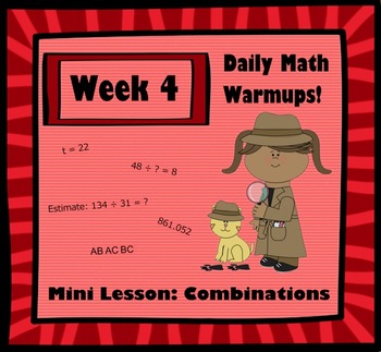 Daily Math Warm Ups WK4 Combinations
