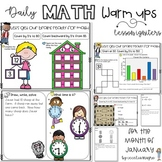 Daily Math Warm Ups for First Grade January