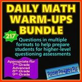 Daily Math Warm-ups Bundle