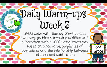 Daily Math Warm-ups by the TEKS
