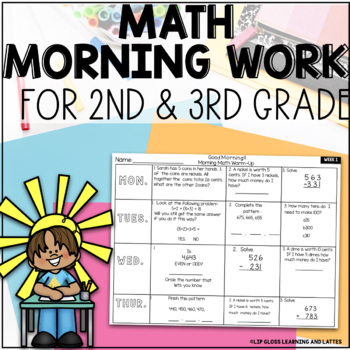 Daily Math Warmup for Morning Work/ Homework {{3 months worth}}