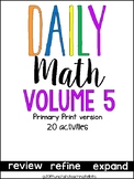 Daily Math Vol. 5 Primary Print