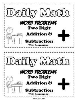 Word Problems for 2 Digit Addition and Subtraction