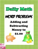 Word Problems for Addition and Subtracting Money