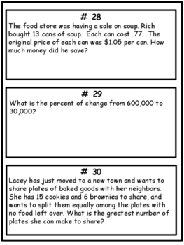 Daily Math Word Problems For Middle School Students