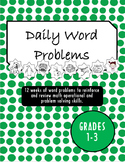 Daily Math Word Problems Grades 1-3