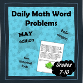 Daily Math Word Problems (Bell ringers) for MAY