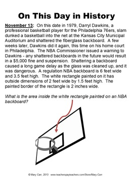 Daily Math Word Problems (Bell ringers) for NOVEMBER