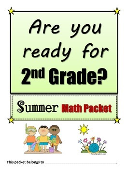 1st going to 2nd Math Summer Packet