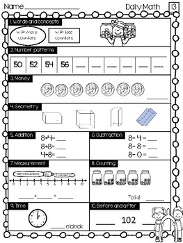 Daily Math Work (November)