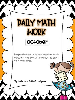 Daily Math Work (October)