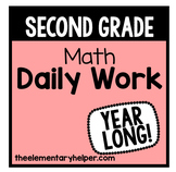 Math Daily Work for Second Grade