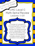 Daily Math Work Spiral Review CMC Level C Lessons 11-20 E-
