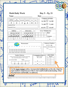 Daily Math Work Weeks 3 & 4 (Third Grade)