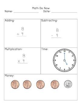 Daily Math Workbook #1