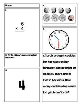 Daily Math Practice [Days 1-10]