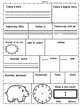 Daily Math Worksheet