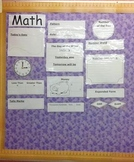 Daily Math Worksheet and Bulletin Board w/CCSS