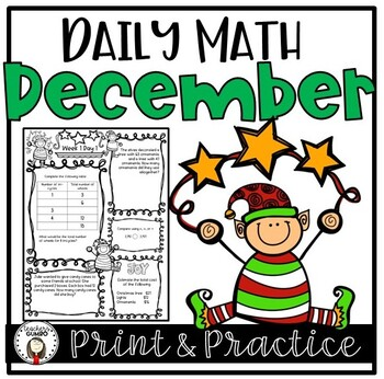 Daily Math Worksheets and Assessments-December