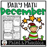 Christmas Worksheets and Assessments for Daily Math Review