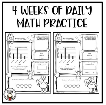 3rd Grade Daily Math Worksheets and Assessments-February