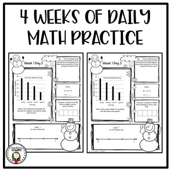 Daily Math Worksheets and Assessments- January