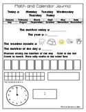 Daily Math and Calendar Journal