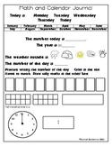 Daily Math and Calendar Journal