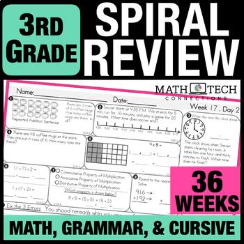 3rd Grade Morning Work Spiral Review Math