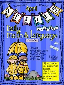 Daily Math and Language:  April