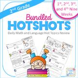 2nd Grade Daily Math and Language Hot Topics Review BUNDLE