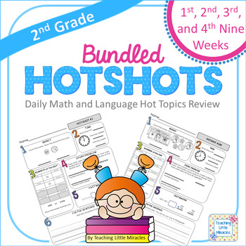 2nd Grade Daily Math and Language Hot Topics Review BUNDLE