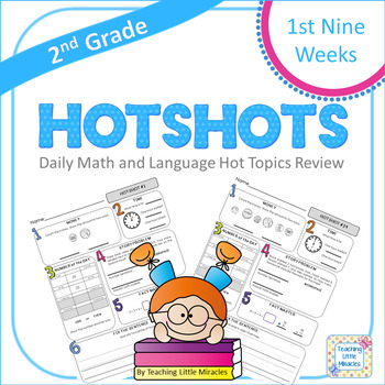 2nd Grade Daily Math and Language Hot Topics Review - 1st 9 Weeks