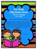 Daily Math and Language Practice for First Grade