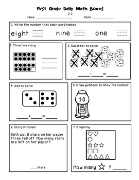 Daily Math and Language Practice for First Grade | TpT