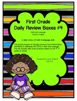 Daily Math and Language Practice for First Graders: Set 4
