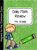 Distance Learning Daily Math and Language Review 4th Grade Bundle