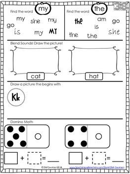 Daily Math and Literacy {October and November} Morning Work Holiday Clip Art