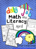 Daily Math and Literacy Spring {April} Morning Work