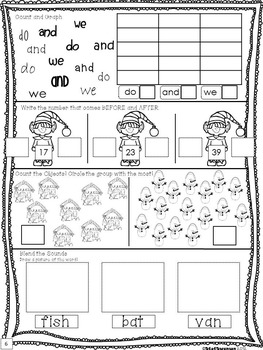Daily Math and Literacy Winter {December and January} MorningWork HolidayClipArt